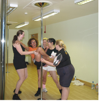 pole dance training